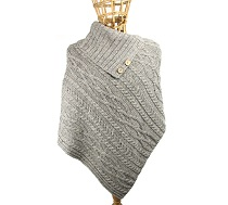 100% Wool Ladies Poncho Glencroft Countrywear