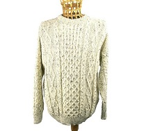 100% Wool Traditional Aran Jumper
