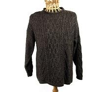 100% wool roll collar jumper