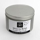 Mils & Boo Lime Basil & Mandarin Small Candle Tin