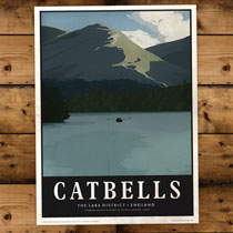 Keswick General Store Art Print Catbells