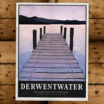 Keswick General Store Art Print Derwent Water