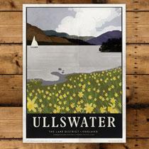 Keswick General Store Art Print Ullswater